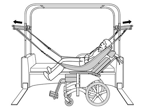 車椅子への乗り換え